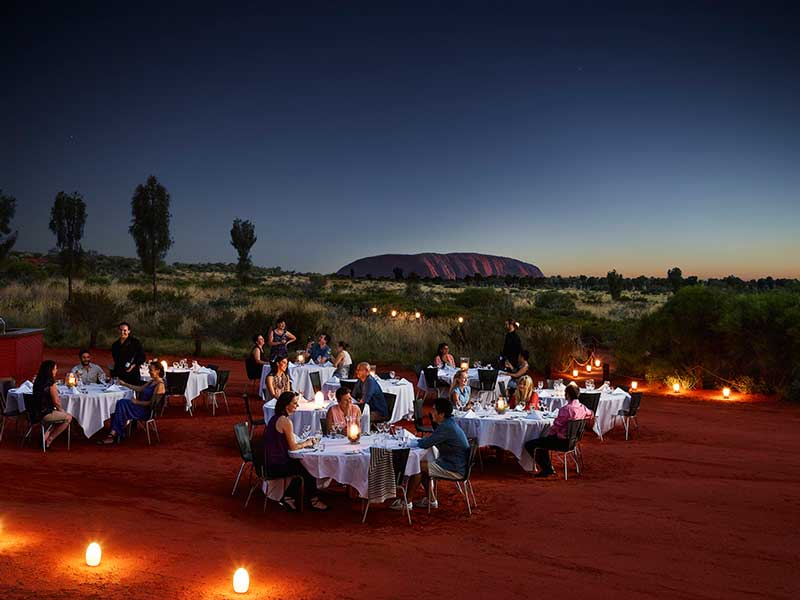 Uluru (Ayres Rock) - Sounds of Silence outback dining experience