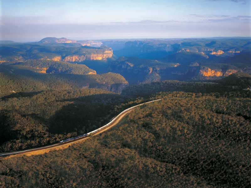 Indian Pacific Train - Blue Mountains