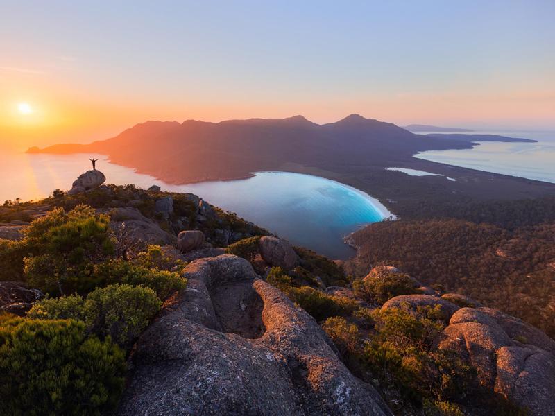 Tasmania - Sunrise at Wineglass Bay