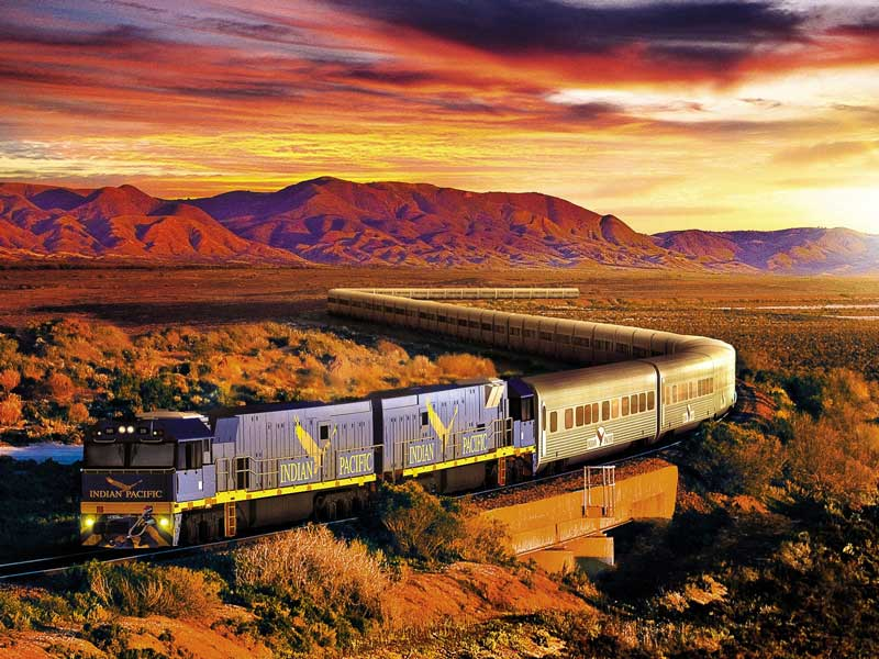Indian Pacific Train Perth to Adelaide