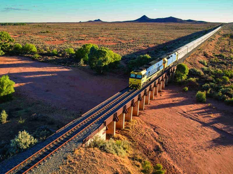 Indian Pacific Train Nallarbor Plains
