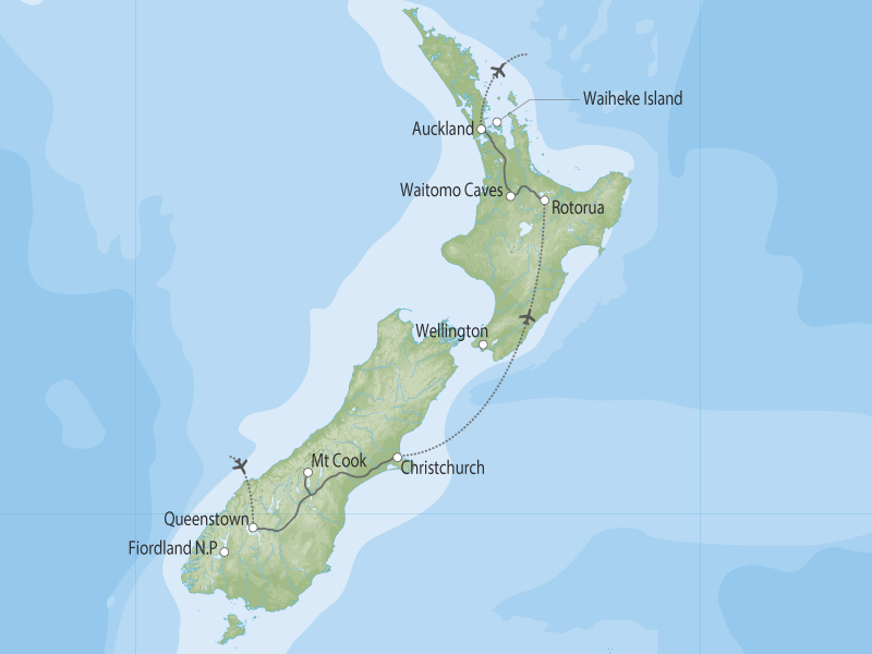 Hidden Gems of New Zealand map