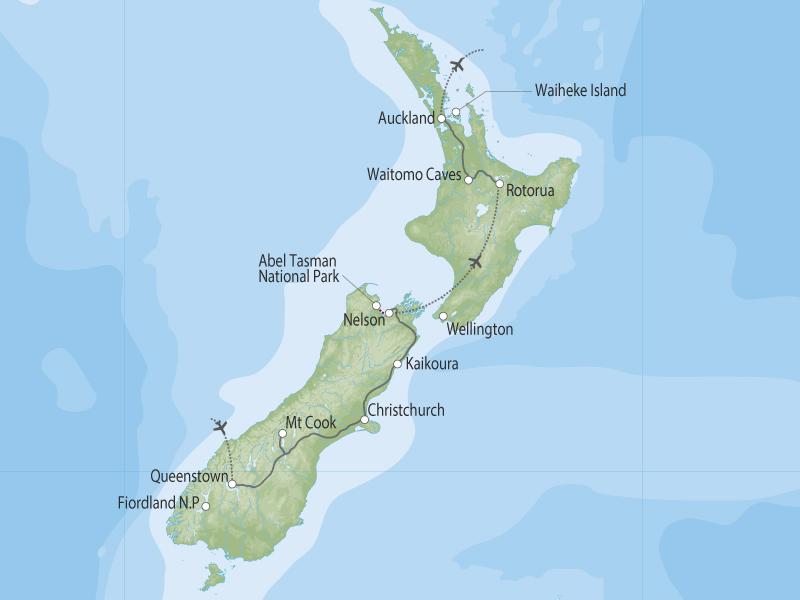Kiwi Adventurer map
