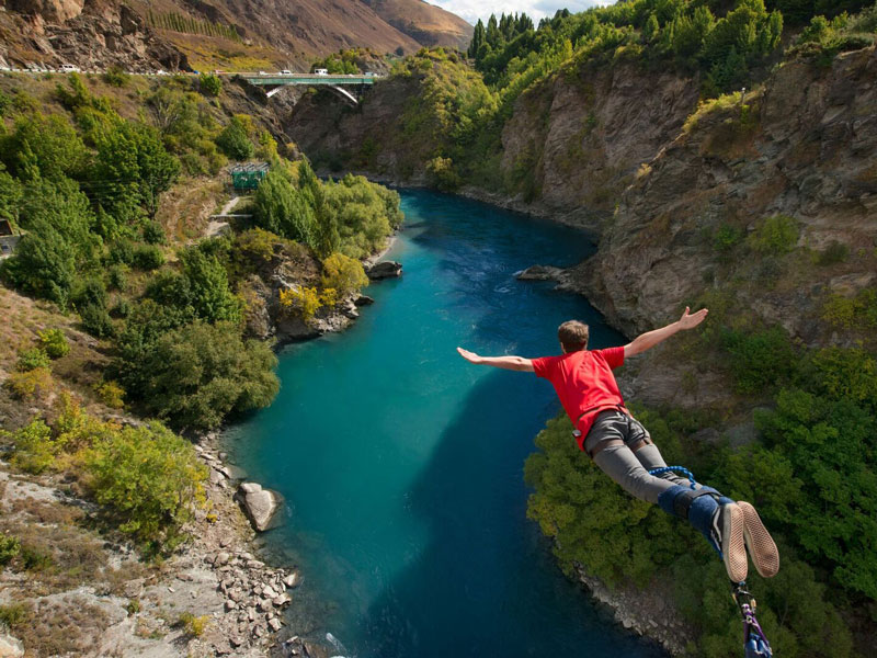 Kawarau Bungy Jumping, Queenstown, New Zealand