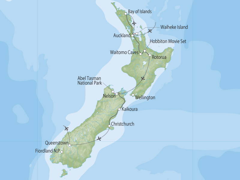 New Zealand Discovery map