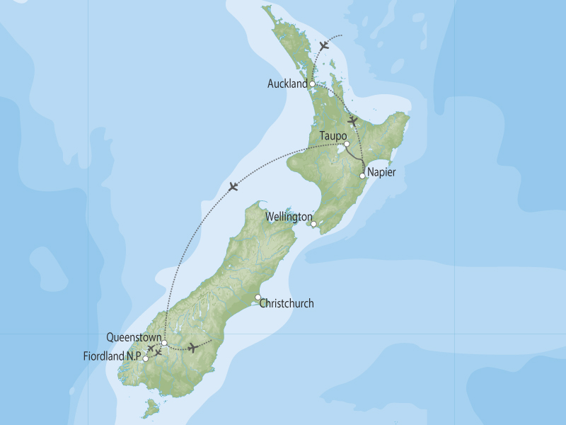 New Zealand Golfing Heaven map