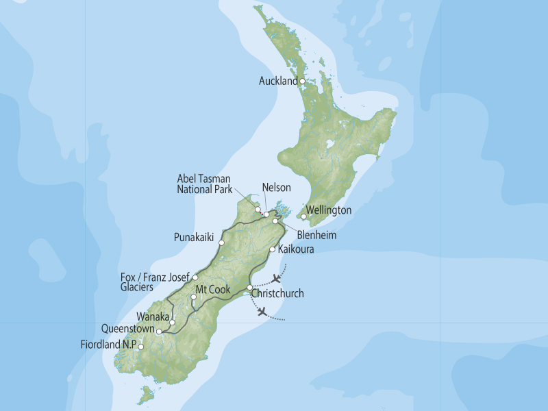 Soul of the South Island map