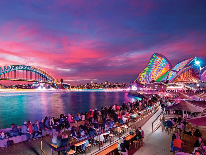 Sydney - Circular Quay during Vivid Festival