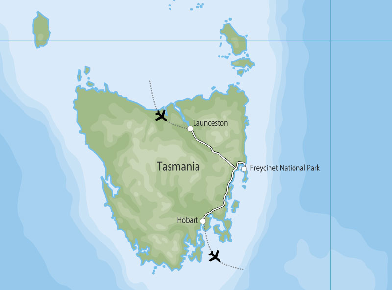 Tasmanian Culinary Journey map
