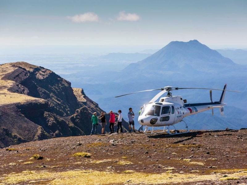 Tongariro Helicopter Landing