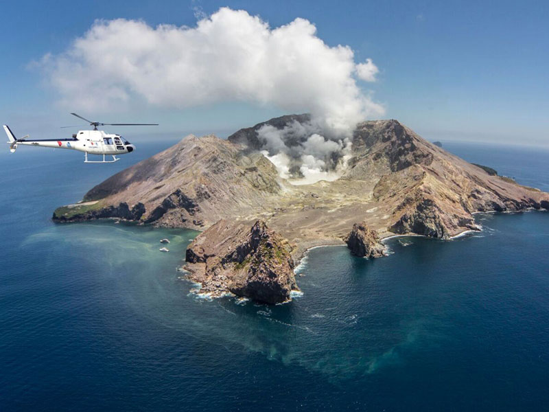 White Island by Helicopter